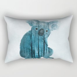 Australian Misty Forest Koala Bear Rectangular Pillow
