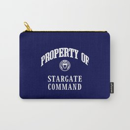 Property of Stargate Command Athletic Wear White ink Carry-All Pouch