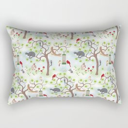 Backyard Wildlife Rectangular Pillow