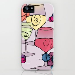 Wine and Grapes v2 iPhone Case