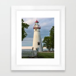Marblehead Lighthouse at Lake Erie Sandusky area Ohio Framed Art Print