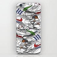 sneakers iPhone & iPod Skins featuring Sneakers by Adikt