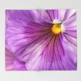Purple Pansy Flower Close-up #decor #society6 #buyart Throw Blanket
