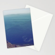 Sea green, ocean blue Stationery Cards