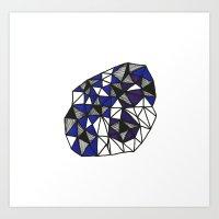 Blue & Purple Orb Art Print