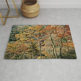 Autumn Trees in Minoo, Japan Rug