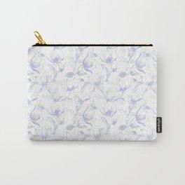 Purple floral romantic art print Carry-All Pouch