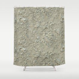 Rough Plastering Texture Shower Curtain