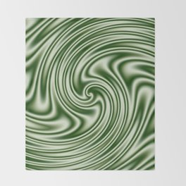Spearmint Ribbon Candy Fractal Throw Blanket