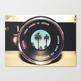focus on palms Canvas Print
