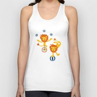 lions Tank Tops featuring Lions by Kendra Shedenhelm