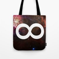 infinite Tote Bags featuring Infinite by Sney1