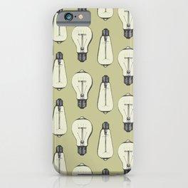 Lightbulb Moment in Mustard iPhone Case