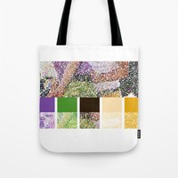 klaine Tote Bags featuring Color You Into My Life by Jen K