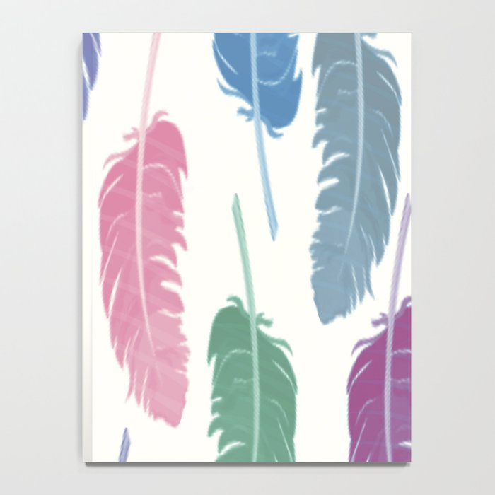 Colorful Feathers Notebook
