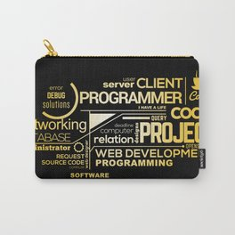 Typography programming Carry-All Pouch