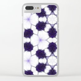 Purple Passion Pattern 5 Clear iPhone Case