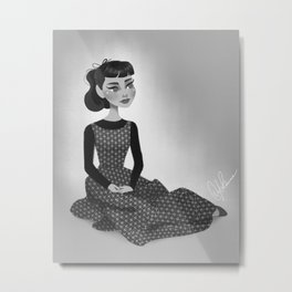 The Chauffeur's Daughter - Audrey Hepburn as Sabrina Metal Print