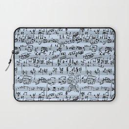 Hand Written Sheet Music // Light Blue Laptop Sleeve