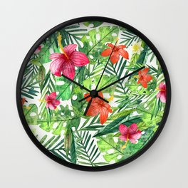 TROPICAL FLORAL 5 Wall Clock