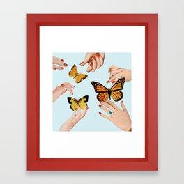 Social Butterflies Framed Art Print