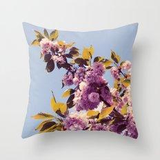 Vintage Blooms Throw Pillow
