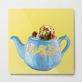 Otter Teapot Metal Print