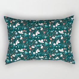 Flowers and Dice Rectangular Pillow