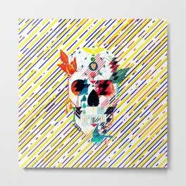 Abstract Skull Metal Print