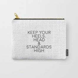Typography Art,Fashion Print,Fashionista,Wall Art,Home Decor,Inspirational Quote,High Heels Carry-All Pouch