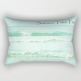 Seascape Green.. Rectangular Pillow