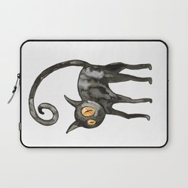 Black cat watercolor Laptop Sleeve