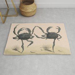 Vintage Illustration of Dancing Crabs (1849) Rug