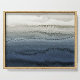 WITHIN THE TIDES - CRUSHING WAVES BLUE Serving Tray