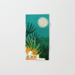 Tropical Moonlight / Night Scene Illustration Hand & Bath Towel