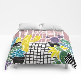 Cacti & Succulent Greenhouse Comforters
