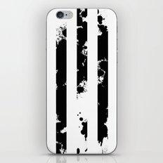 Splatter Bars - Black ink, black paint splats in a stripey stripy pattern iPhone & iPod Skin