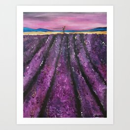 Bywater  Hollow Lavender Fields Art Print