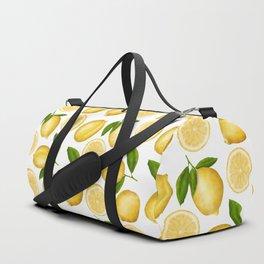 Luscious Lemon Pattern Duffle Bag