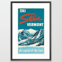 Stowe, Vermont Vintage Ski Poster Framed Art Print