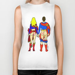 Superhero Butts Love 1 - Super Birds Biker Tank