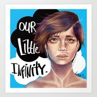 the fault in our stars Art Prints featuring The Fault in Our Stars by Loorae