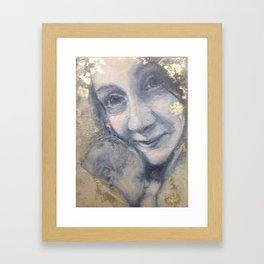 Portrait of J. and grandbaby Framed Art Print