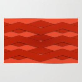 Beautiful Red Zigzag Design Rug