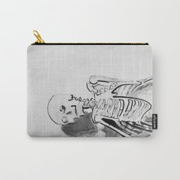 Skeletal study- Ink drawing of an actual skeleton Carry-All Pouch