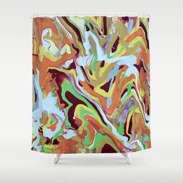 Orange Rhythm Shower Curtain