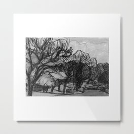 Country Drive Metal Print