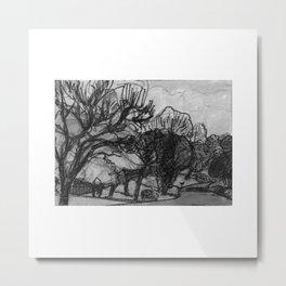 Country Drive Metal Print