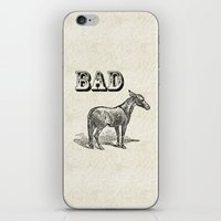 ass iPhone & iPod Skins featuring Bad Ass by Jacqueline Maldonado