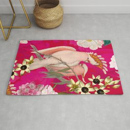 Vintage & Shabby Chic - Tropical Bird Flower Garden Rug